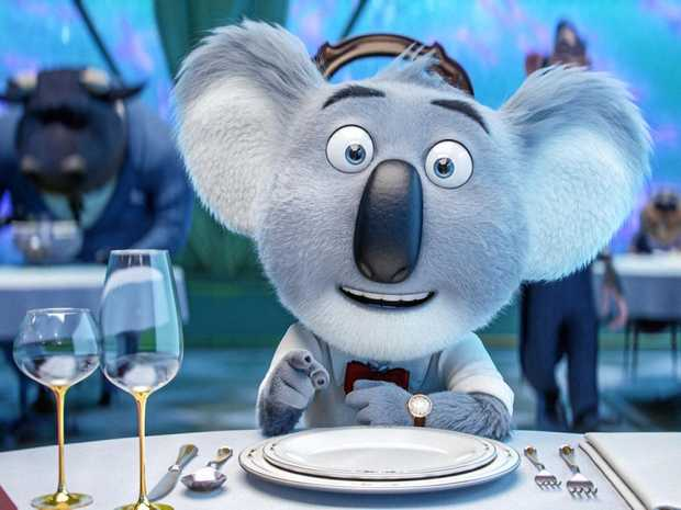 The character Buster Moon in a scene from the movie Sing.