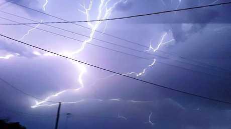 Lightning on Monday night, 5th December, 2016.