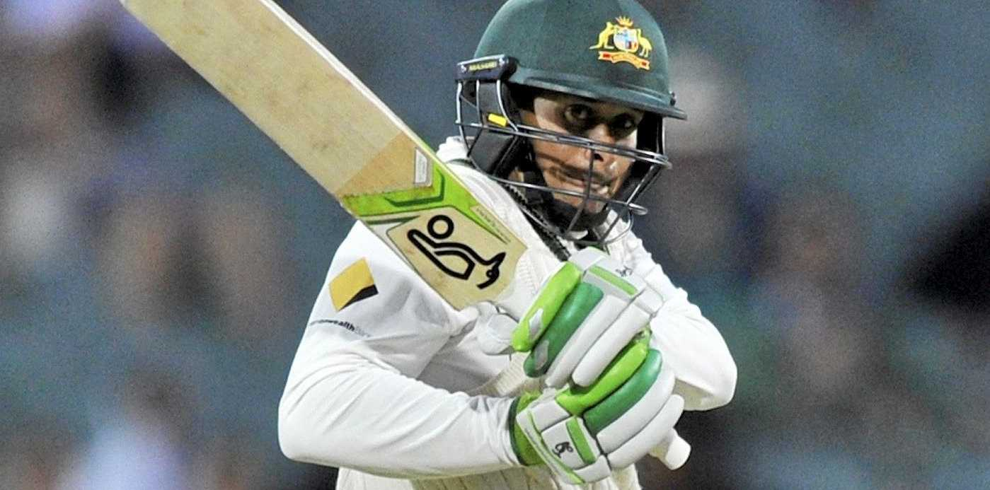Usman Khawaja during the third Test between Australia and South Africa at the Adelaide Oval.