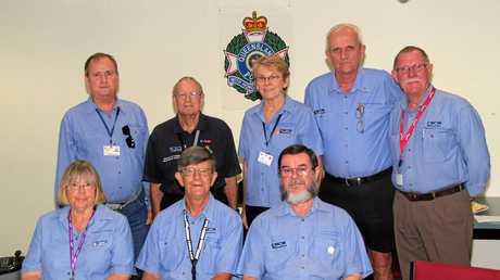 Volunteers in Policing in Rokchampton - (back) Michael Burke, Neil Harvey, Greta Brady, Darryl, Noel Baxter.(front) Marj Bergman, John Weir, Tim McSweeney.