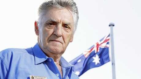 Phil Gilbert was  upset over the disrespectful use of the Australian flag on Australia Day.