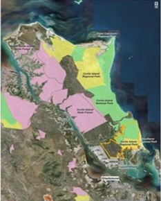 NEW PARK? The Department is asking if locals if they should make large swathes of Curtis Island a National Park, or not.