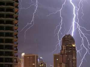 Gold Coast smashed by severe lightning storm
