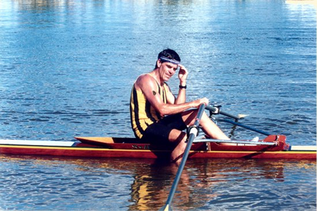 Greg Thompson at the 1991 Australian Masters. Greg also became Grafton Rowing Club President in the early 1990s.