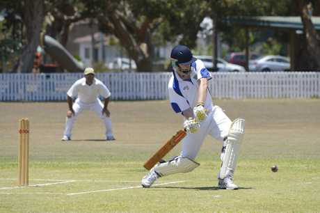 Harwood batsman Dane Mitchell during the LCCA match between United and Harwood at Yamba Oval on Saturday, 3rd December, 2016.