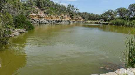 The Blue Pools at Angourie which has been closed due to a toxic blue-green algae bloom.