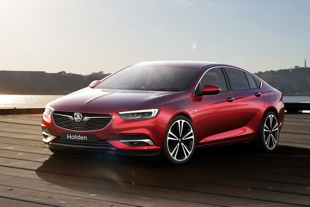 BREAKING COVER: The next-generation Holden Commodore has been revealed in sleek Liftback form.