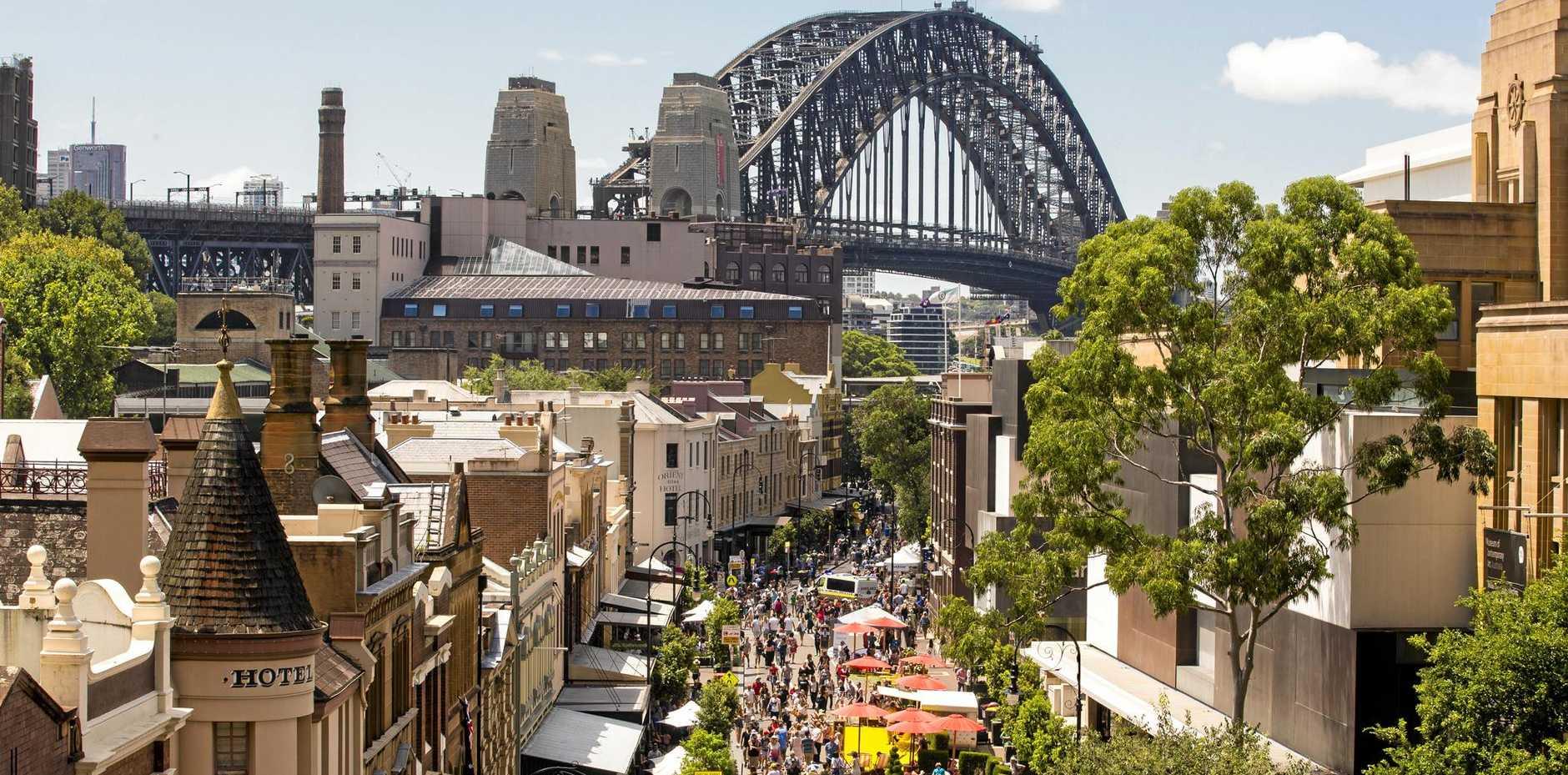 The Sydney Harbour Bridge.