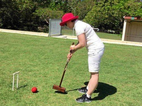 Ipswich Croquet Club player Emily Robertson.