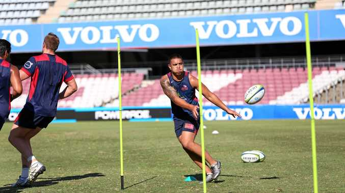HIS YEAR: Ex-Emmaus College student Duncan Paia'aua going through the ropes for the Queensland Reds in his toughest pre-season yet.