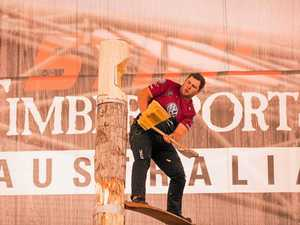Blackbutt brothers take to timbersports