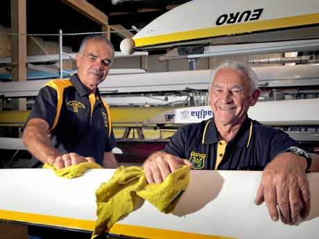 Grafton Rowing Clubs Greg Thompson and Ken Maughan getting ready for the Masters this week