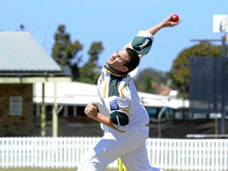Wanderers Adrian Boyd was bowling during the LCCA cricket match between Yamba and Wanderers at Yamba Oval on Saturday 11th October 2014. Photo Debrah Novak / The Daily Examiner