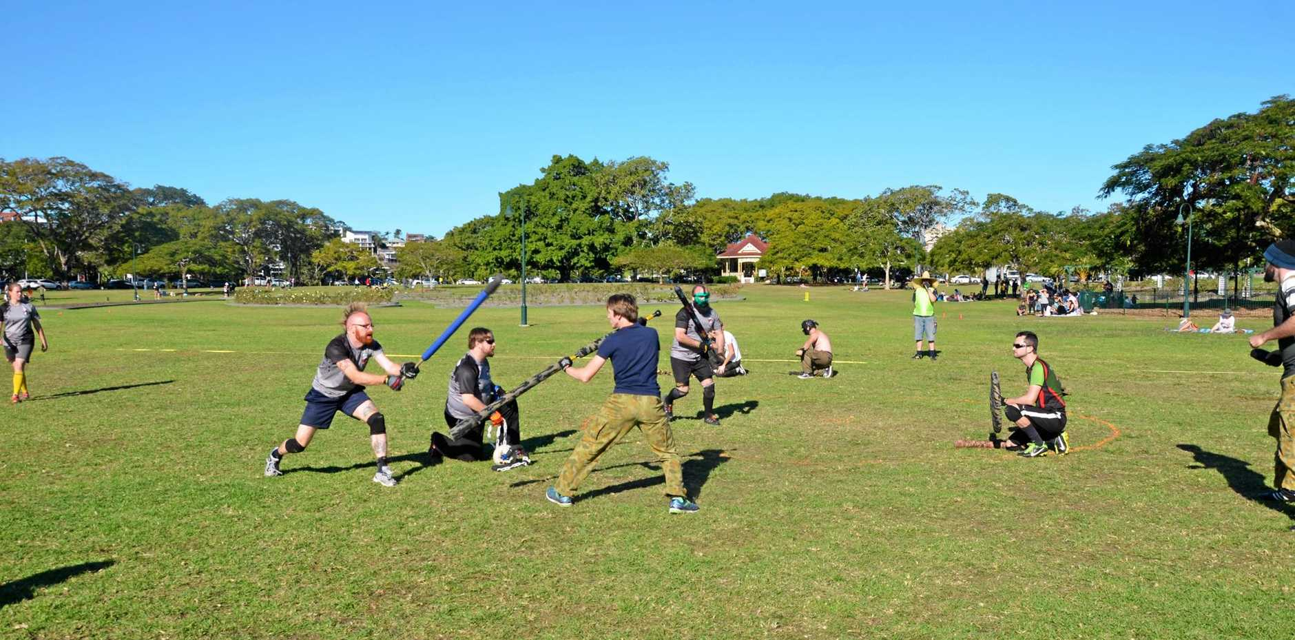 ACTION PACKED: Jugger is not a sport for the faint-hearted.
