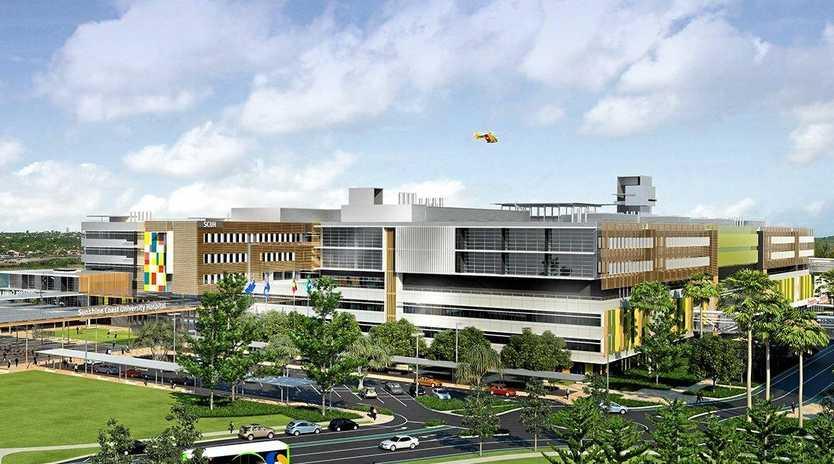 Sunshine Coast University Hospital north-west view.
