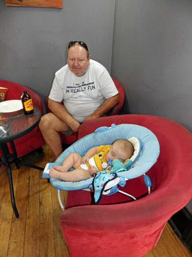 Baby Arlo at Zeebra's cafe.