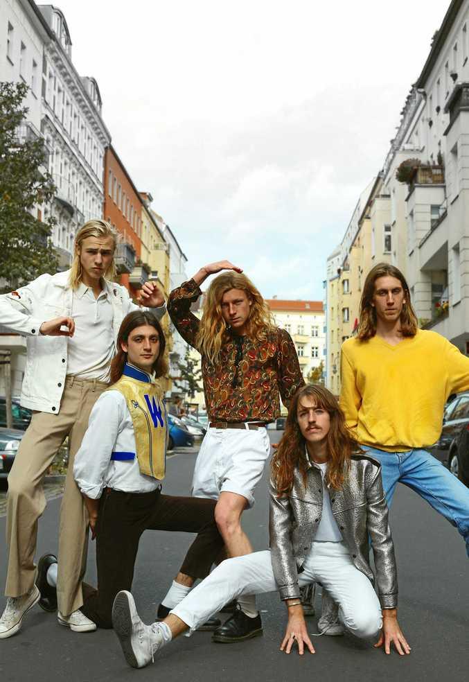 BAND: Louie Swain, Anatole Serret, Noah Hill, Jules Crommelin and Patrick Hetherington.