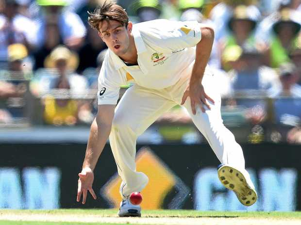 Australia's Mitchell Marsh during the first Test against South Africa at the WACA.