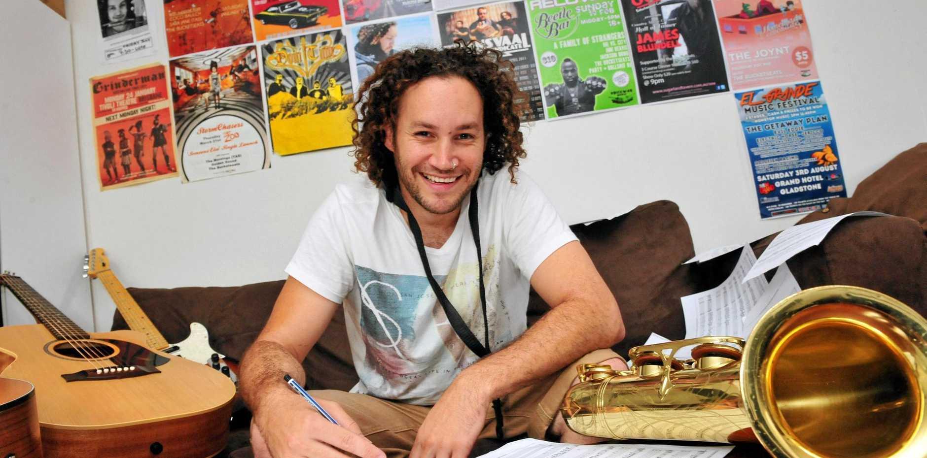 Bundaberg musician Matthew Barker.