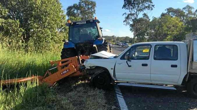 Emergency services rushed to the scene of a multi-vehicle crash at Hay Point.