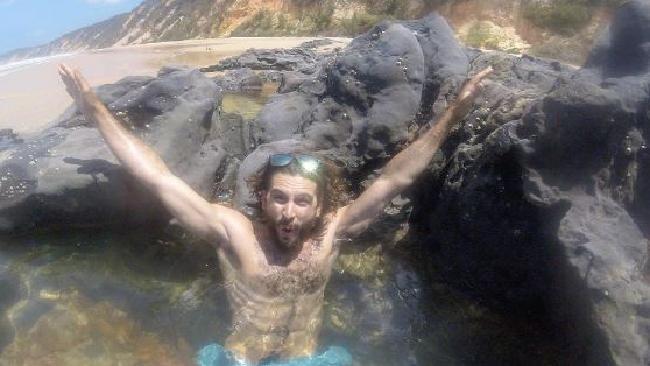 Sam Beattie at Rainbow Beach. Picture: Instagram