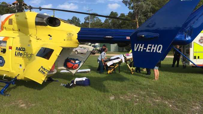 TERRIBLE: A nine year old girl was airlifted by the RACQ LifeFlight Rescue helicopter.