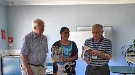 THANKS: U3A present two books to the Woolgoolga Library.