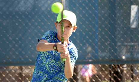 Lachlan Vickery (12) is off to Melbourne to compete in the Junior Tennis Finals.