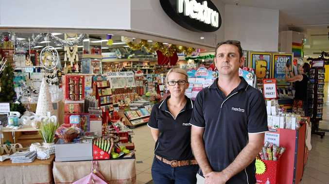 Managing Directors Jodi and Duncan McLelland at their Keppel Bay Plaza Nextra newsagencey where they've been experience a rise in thefts and want to make the public aware.