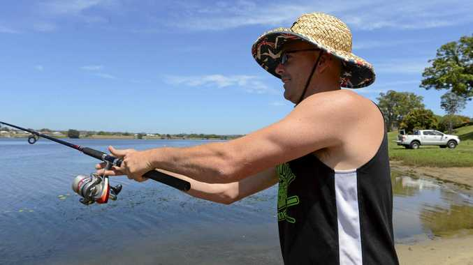 CAST AWAY: There is nothing better to do on a hot day than 'cast away' according to Clarence Valley fishers. That was the case for Grafton angler Nathan Anderson who set up shop on the Clarence's banks recently.