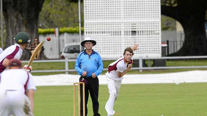 LEADER: Grafton High captain Ben Jurd swung the match in his schools favour with a tight spell of opening bowling.