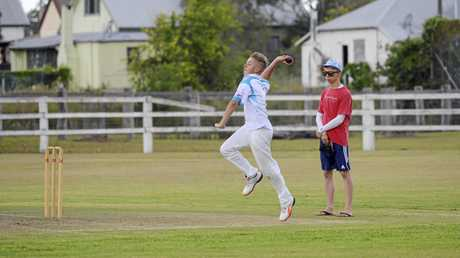 Blistering seamer Riley Chevalley was in the wickets for Grafton High against Camden Haven on Tuesday.