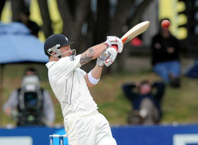 New Zealand's Brendan McCullum in his last Test match in March.