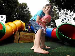 Fire-damaged playground gets shiny new slides