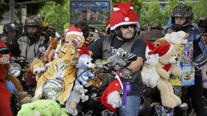 Ulysses Club toy run from Brassall Shopping Centre. Photo Inga Williams / The Queensland Times