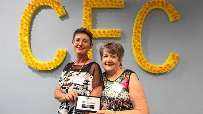 HELPING HANDS: Leslie Walker and Pauline Stait from Wot Eva Go's are few of the ambassadors that have helped change cancer patients lives this year.