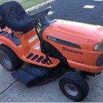 Red Husqvarna LTH184 stolen from Keppel Sands October 28