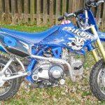 Blue/White Yamaha TTR50 Minibike stolen from Rockhampton December 1