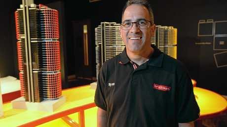 Professional Lego builder Ryan McNaught is showing his Towers of Tomorrow at the Rockhampton Art Gallery.