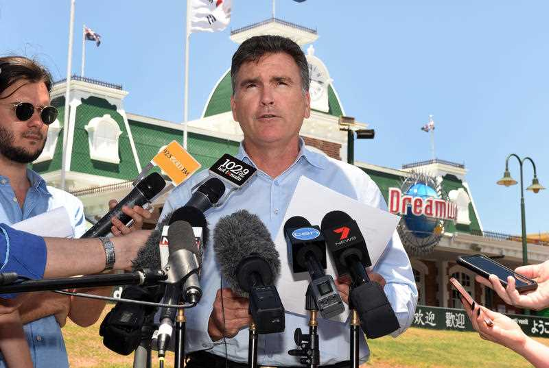 Craig Davidson, CEO of amusement theme park Dreamworld.