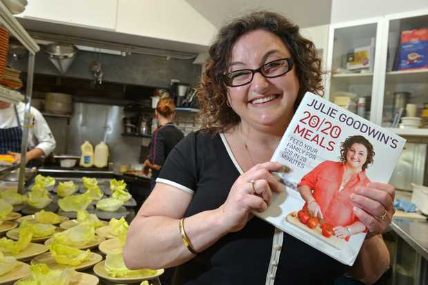 Julie Goodwin with one of her previous cook books.