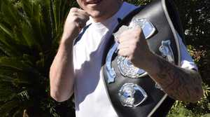 South Grafton amateur boxer Zac Cotten with his newly won New England ABL Light-Heavyweight title.