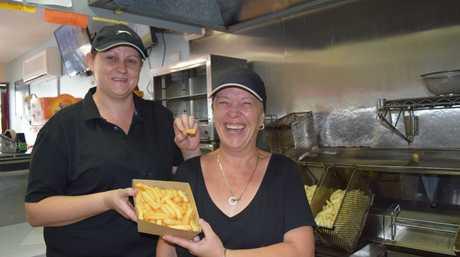 Jo Logan and Sandra Willett from Brassall Seafood & Takeaway