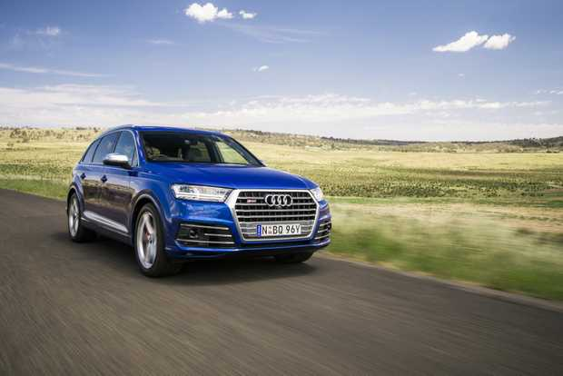 FLAGSHIP: Audi's new SQ7 TDI features a 4.0-litre twin-turbo V8 diesel offering 320kW, 900Nm and a 0-100kmh time of 4.9-seconds. An electric-powered compressor all but eliminates turbo lag from low range. This tech and safety-filled SUV costs from $153,616 before on-roads.