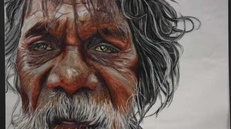 Ruby Sullivan's HSC artwork Look My Way, which has made it into ArtExpress.