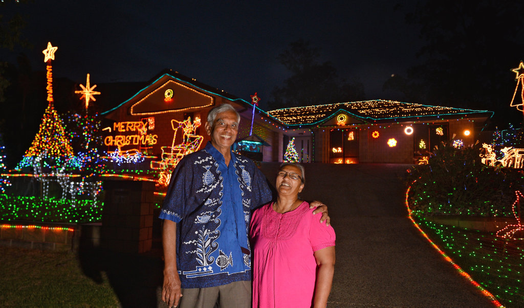 image for sale christmas lights in gympie 2016 entrant lucian appuhamy charmaine appuhamy 51