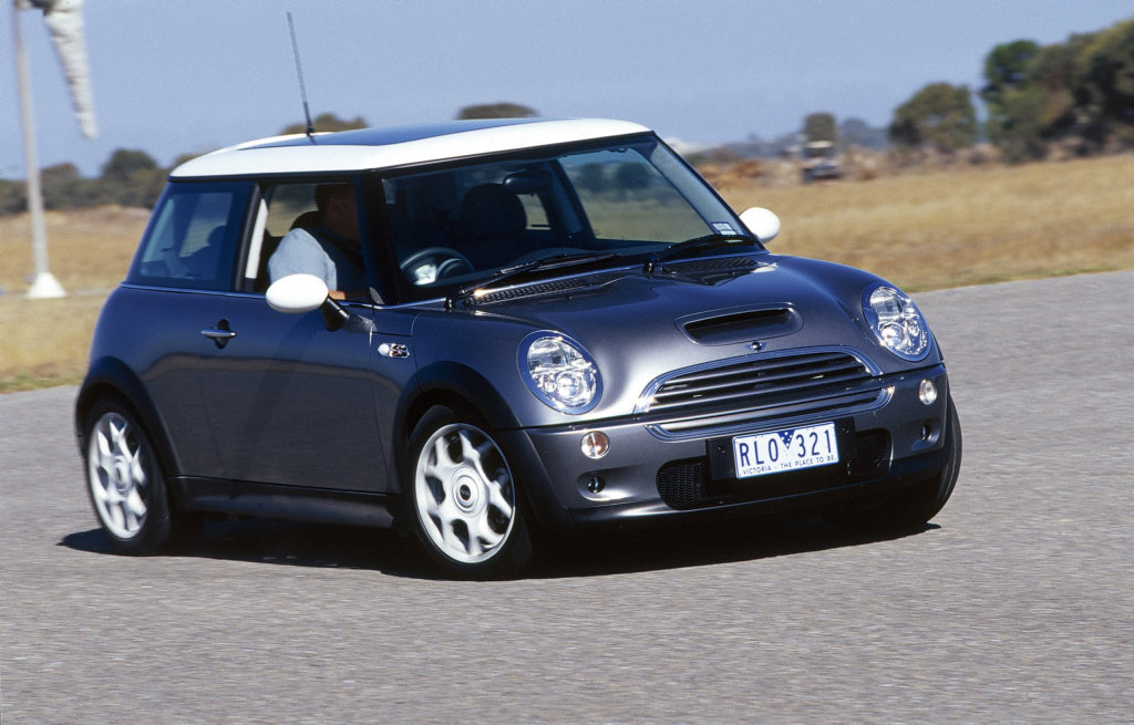 An early Mini Cooper like this 2003 model can be found for under $7000.