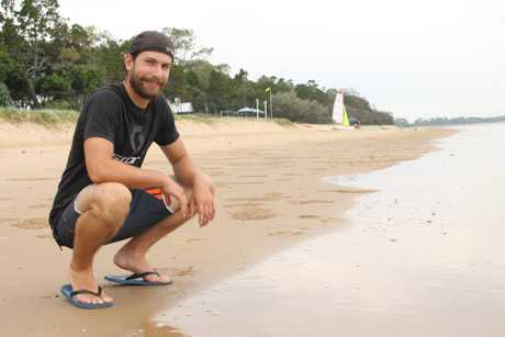 Patrick Janke from Germany is one of many international travellers who has chosen to visit Fraser Coast on his journey.