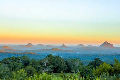 Glass House Mountains, Sunshine Coast, Queensland, Australia.