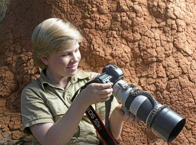 SNAPPER: Apart from wildlife, photography is Robert Irwin's great passion.